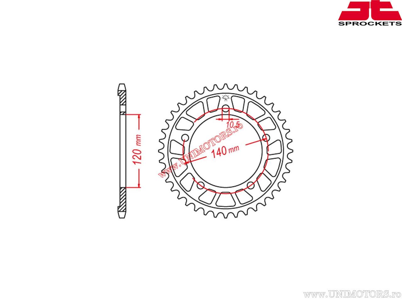 Pinion spate aluminiu Suzuki DL 650 V-Strom / DL 1000 V