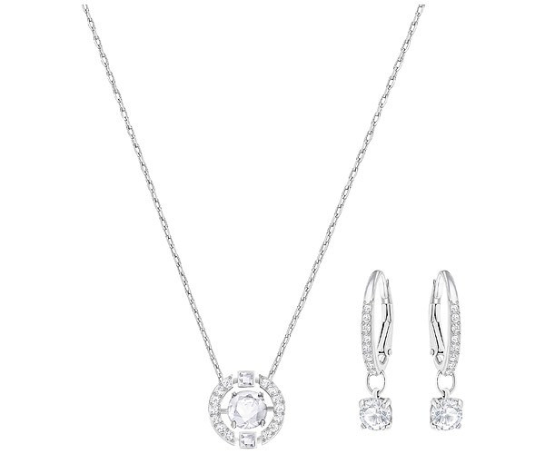 Swarovski Sparkling Dance Round Necklace and Earring Set