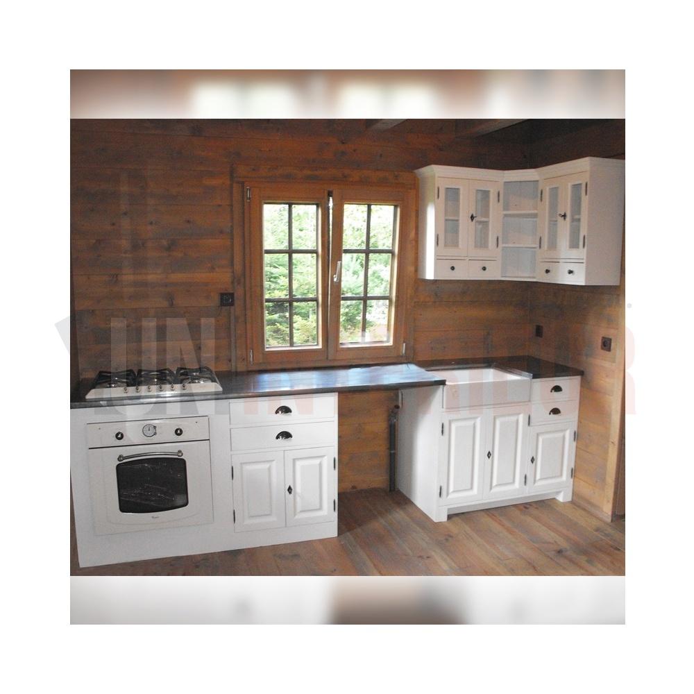 meuble cuisine bois et zinc
