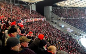 Union fans at Olympiastadion
