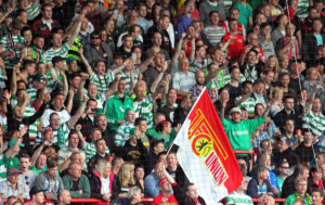 Several Union fans were in the Celtic end