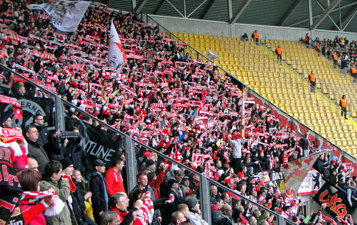 As in 2012, the away end was sold out and packed to the rafters
