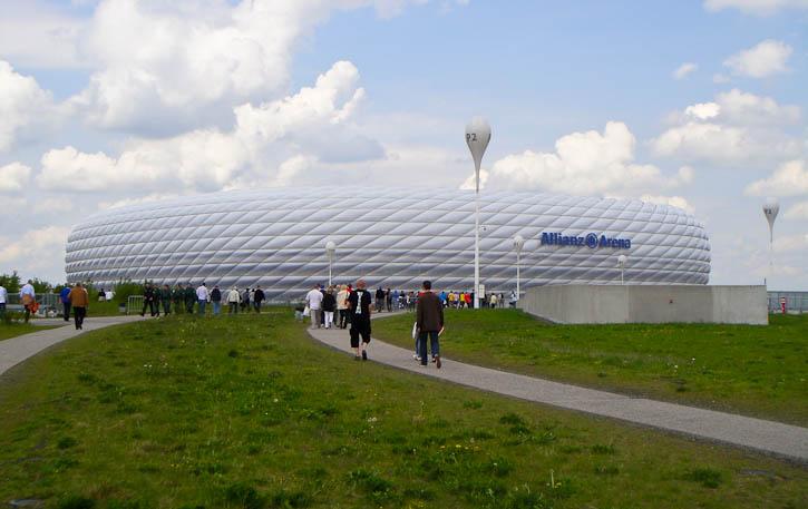 Union fans en route to Allianz Arena