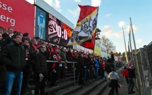 Union fans in Sandhausen