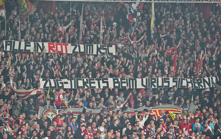 Wear red in Karlsruhe
