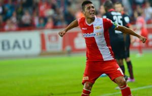 Damir Kreilach celebrates his goal