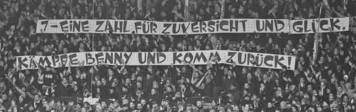 Union fans show support for Köhler