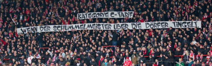 Banner at today's match