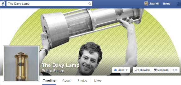 Davy's new Facebook page. Smile Richard!