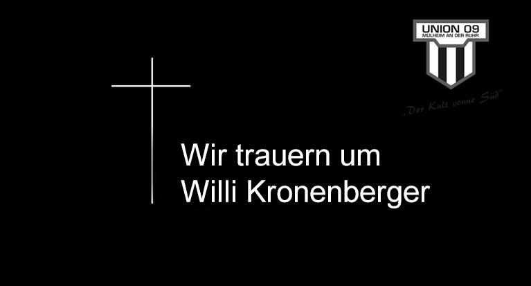 Trauer um Willi Kronenberger
