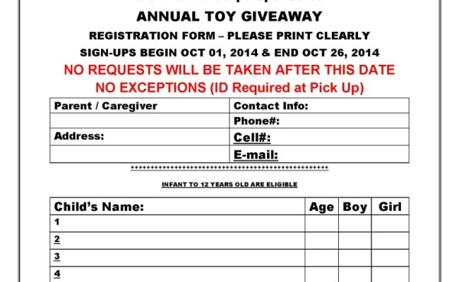 Toys For Tots Application Form Wow Blog