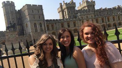 Faith, Brittany, Rachel at Windsor Castle