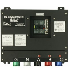 basic company switch with series 16 cam lok receptacle 60 amp [ 1000 x 1000 Pixel ]