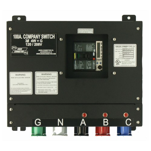 small resolution of basic company switch with series 16 cam lok receptacle 100 amp