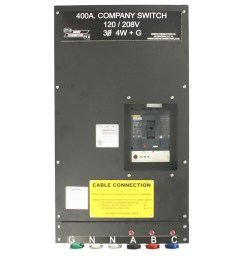 basic company switch with series 16 cam lok receptacle 400 amp [ 1000 x 1000 Pixel ]