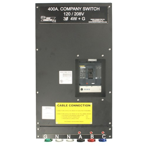small resolution of basic company switch with series 16 cam lok receptacle 400 amp