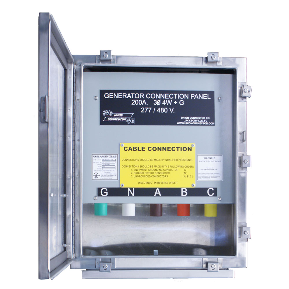 medium resolution of generator connection box with series 16 cam inlets 100 400 amp