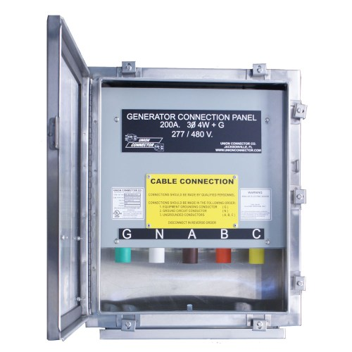 small resolution of generator connection box with series 16 cam inlets 100 400 amp