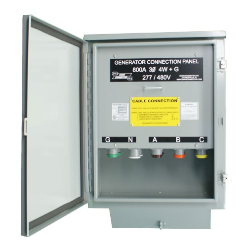 small resolution of generator connection box with series 16 cam inlets 600 800 amp