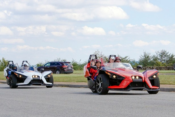 Slingshots coming out of Veterans Overlook