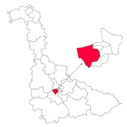 Carte : le canton de Laxou dans la Meurthe-et-Moselle