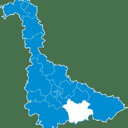 Carte : le canton de Lunéville 2 dans la Meurthe-et-Moselle