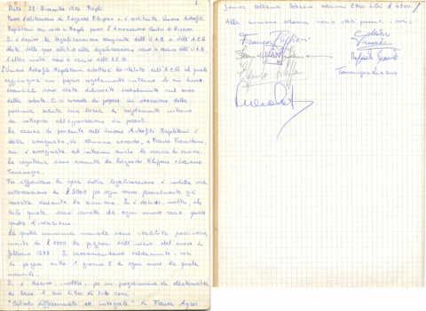 28 Dicembre 1974 - Verbale di costituzione dell'UAN