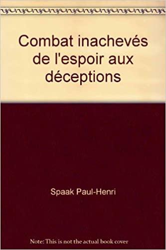 Book Cover: Combats inachevés