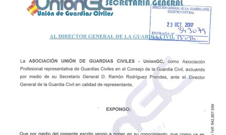 UnionGC sigue luchando por todos los Guardias Civiles