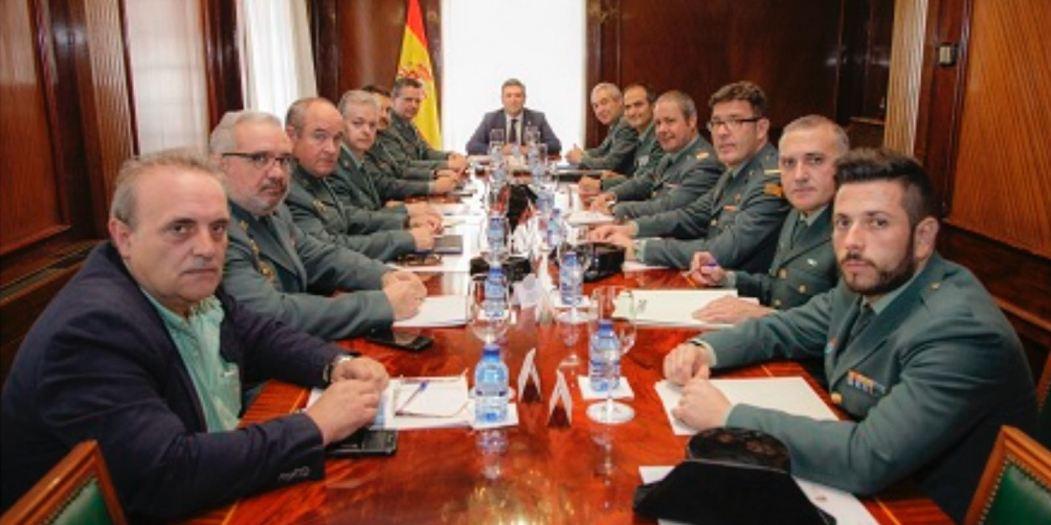 Reunion de las asociaciones representativas con el Director General de la Guardia Civil