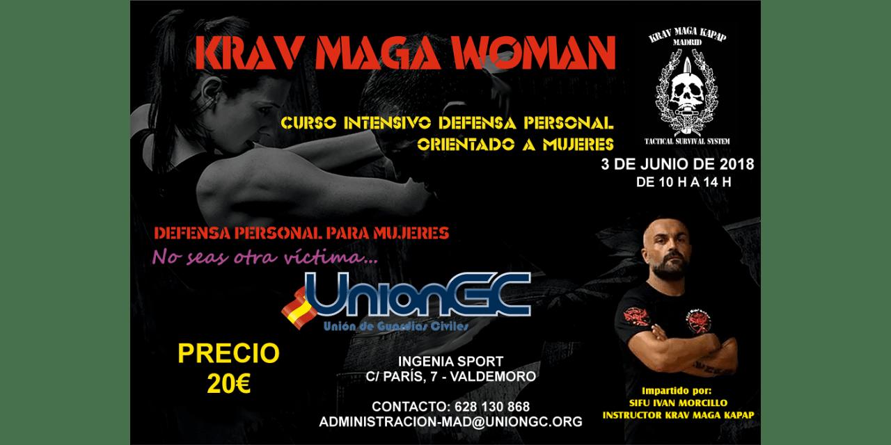 Unión de Guardias civiles, UniónGC,convoca un curso de defensa personal para mujeres, krav maga