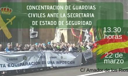 Convocada concentración de Guardias Civiles ante la SES