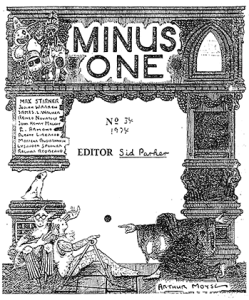 Cover illustration of Minus One, issue 34. From LMP PP1610