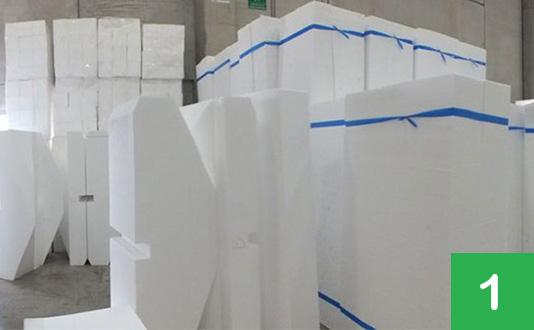 Separare il polistirolo espanso (EPS) dagli altri materiali da imballaggio