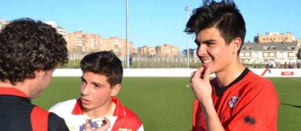 Murillo y Alberto tras el Juvenil A 2-1 Atlético