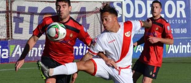 Entrevista a Juancho tras el Atlético Pinto 0-0 Rayo B y ser convocado con el primer equipo