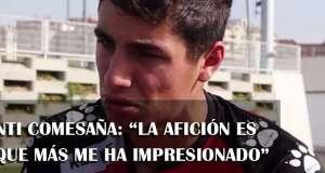 """Santi Comesaña: """"Lo que más me ha impresionado del Rayo es su afición"""""""