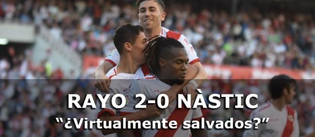 Crónica: Rayo 2-0 Nàstic