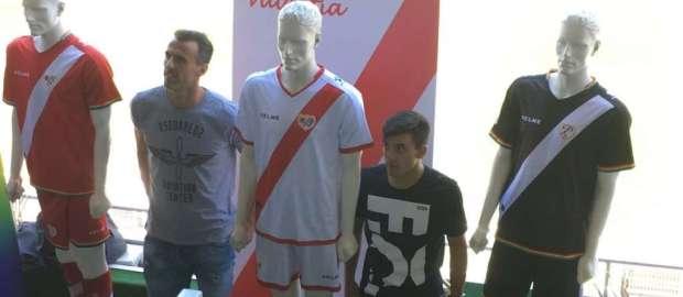 El Rayo Vallecano estrenará las nuevas equipaciones en el debut liguero