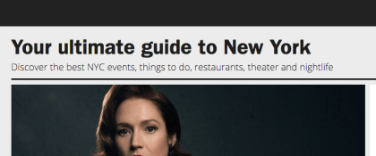 Websites for Things to Do in NYC - TimeOut