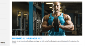 Bodybuilding.com is one of the three best fitness websites