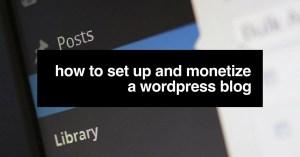 WordPress monetization