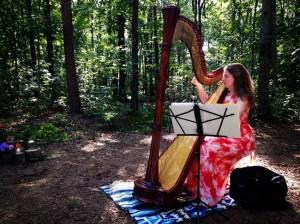 Harpist at Huneycutt-Medlin Wedding