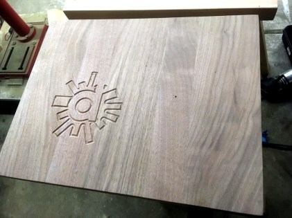 CNC Logo Walnut Cutting Board