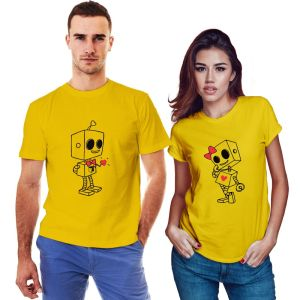 Robot Couple T-shirt