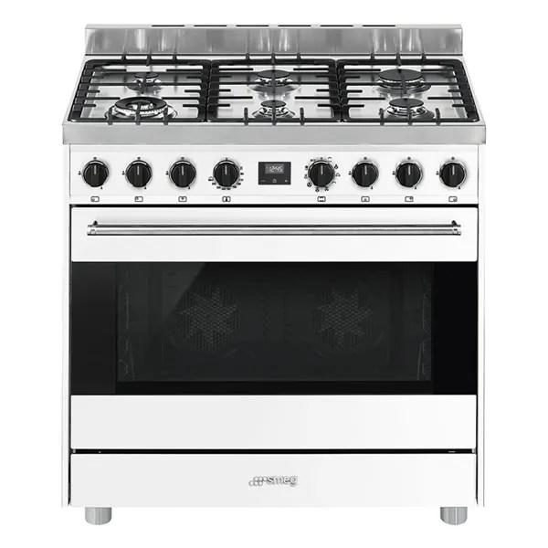 Cucina Gas Forno Multifunzione Smeg B9GMBI9 90 cm Bianco