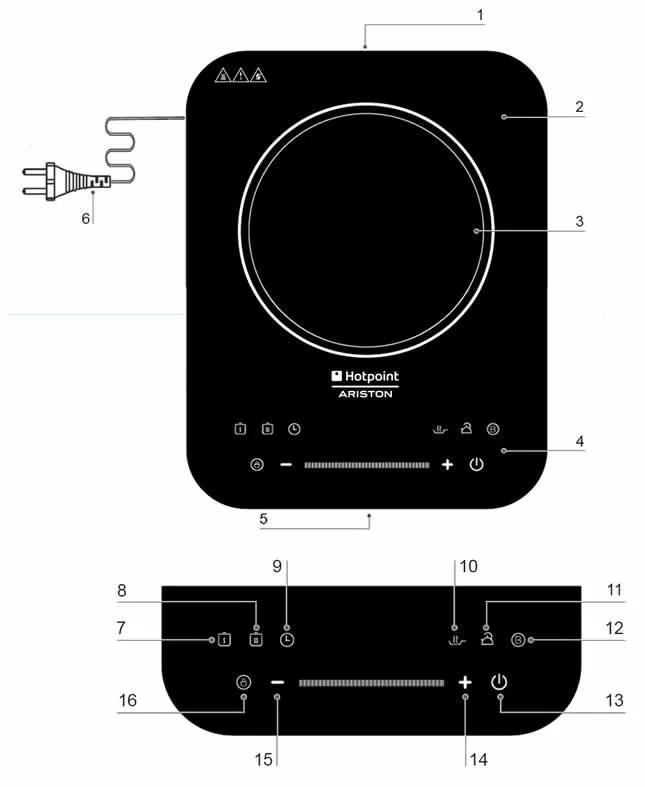 Offerta Piano Cottura Induzione Ariston PA200I EBK0 30 cm  UP