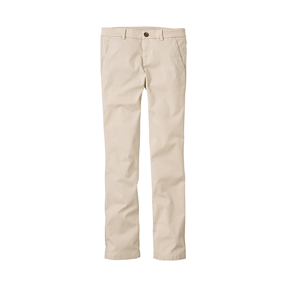 WOMEN Slim Fit Chino Trousers A