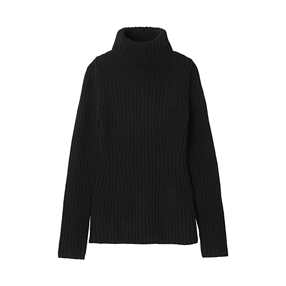 WOMEN Heavy Gauge Polo Neck Sweater