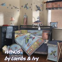 Airplane Baby Bedding - Modern & Vintage Aviator Crib Bedding